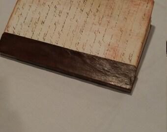 vintage word journal
