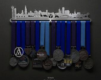 Chicago Cityscape - Allied Medal Hanger Holder Display Rack