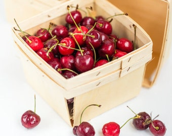 24 Wood Pint size Berry Baskets