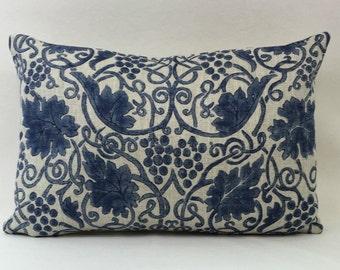 """William Morris Grapevine Indigo 224476 Cushion Cover 18""""x12"""" New Morris Design"""