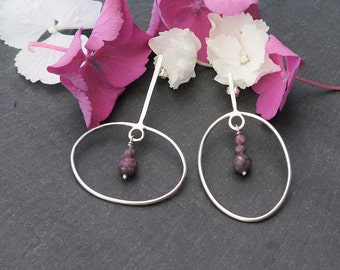 925 Sterling Silver earrings and tourmalines