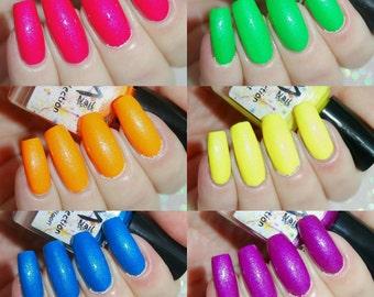 Neon Rave Collection/ Neon Nail Polish/SM Nail Polish