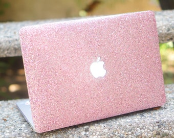 glitter sparkle macbook case for macbook air 11, macbook air 13, macbook pro, macbook pro with retina display in fancy pink