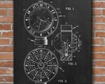 Universal Time Providing Clock, Clock Patent Print, Office Decor, Clock  Poster, Patent