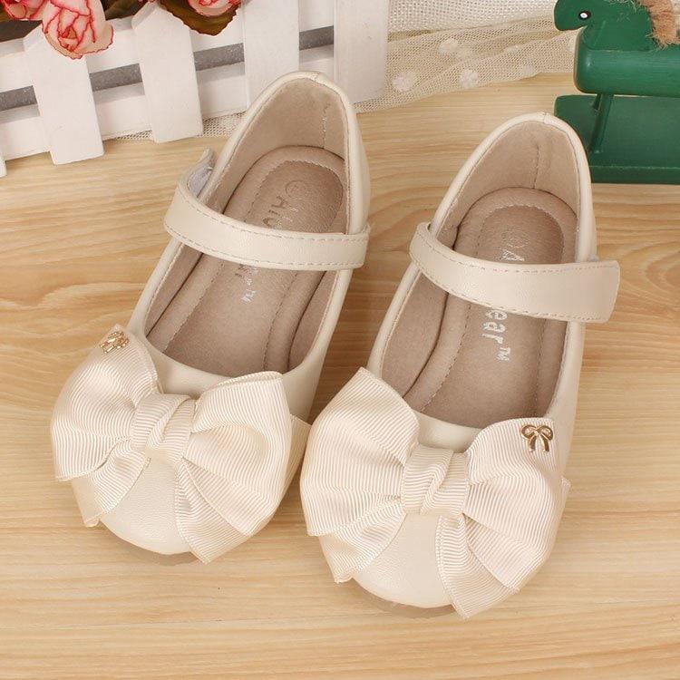 Ivory Flower Girl Shoes/ Off White Ribbon Girls ShoesToddler