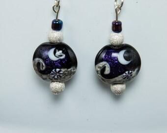 Celestial nights earrings-A253