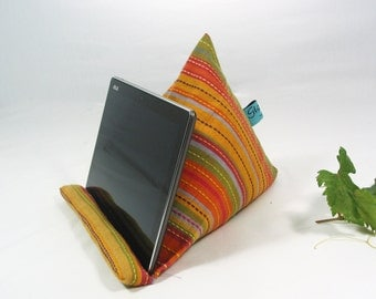 Cambaya fabric~Ipad-Iphone stand~Ipad pillow~Ipad cushion~Tablet pillow~Mobile Device  support~Kindle~E-reader~Cotton fabric~Design No6