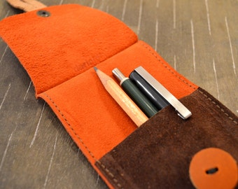 Leather Stationery Pouch, Pencil Case