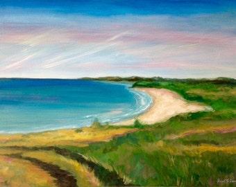 Original landscape painting. Ocean painting. beach art. Beach decor. Nautical art. Ocean and beach art. Coastal painting. coastal decor.