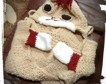 Crochet Sock Monkey Blanket Made To Order