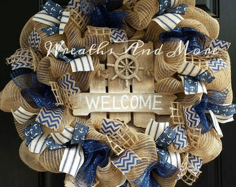 Nautical/Beach/ Wreath/