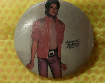 Vintage Michael Jackson Red Zipper Jacket Button