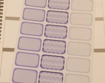 Purple and Grey Half Boxes