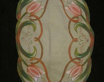 Tablecloth handmade fabric drawing