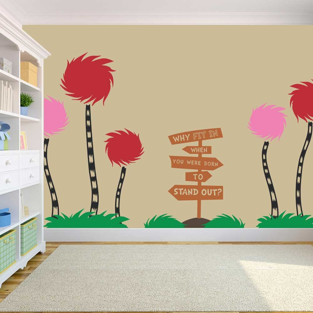 truffula tree wall decals color the walls of your house truffula tree wall decals truffula trees dr seuss vinyl wall decal by stolzdesignonetsy