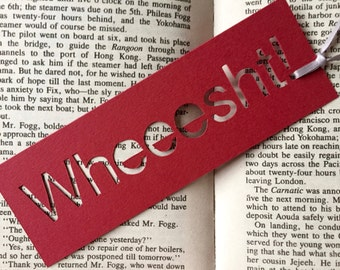 Bookmark, Unique bookmarks, Paper bookmarks, Wheesht, Scottish gifts, Book lover gift, Coworker gift, Book accessories, Small gifts
