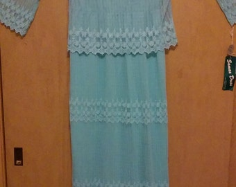CLEARANCE was 225 now 155. 60s/70s Vintage NWT Boho Chic Maxi Dress by Samax