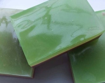 CHOCOLATE MINT 4oz. Glycerin and Shea Butter Rectangle Soap/Body Bars