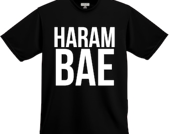Funny Shirt, Haram Bae, Men's Funny Shirt, Funny Tee, Humor Tee, Harambe Shirt, Unisex, Men's, Women's , Short Sleeve, Christmas Gift, Gift