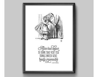 Digital Print - Alice In Wonderland - Not Really Impossible