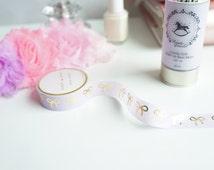 Light purple lavender pastel gold foil ribbons bows washi tape