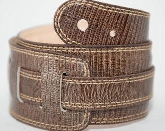 Handmade leather guitar strap