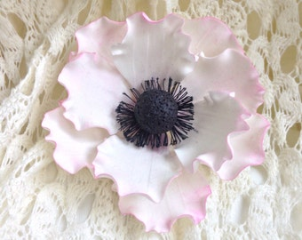 Anemone Sugar Flower Frilled Gumpaste Flower Wedding Cake Topper