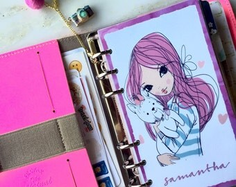 A Girl and her Puppy Personalized Planner Dashboard