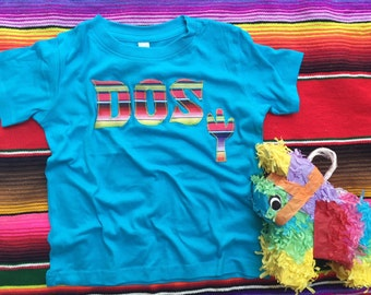 Fiesta Birthday DOS Shirt - Sweet Texas Treasures - second birthday, serape fiesta birthday tee, DOS birthday tee, fiesta theme