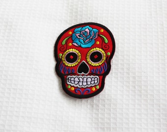 Day of the dead - Red - Iron on patch