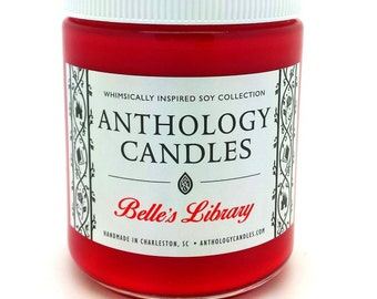 Belle's Library Candle - Anthology Candles - Disney Candles - 8 oz Jar