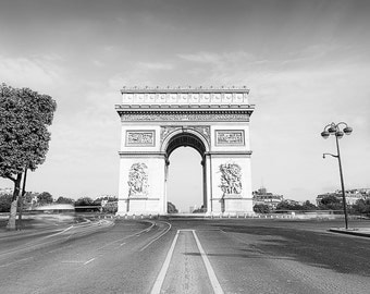 Black and White, Arc de Triomphe, Champs Elyséesdigital wall art, digital print, instant download, printable art, wall decor, home decor
