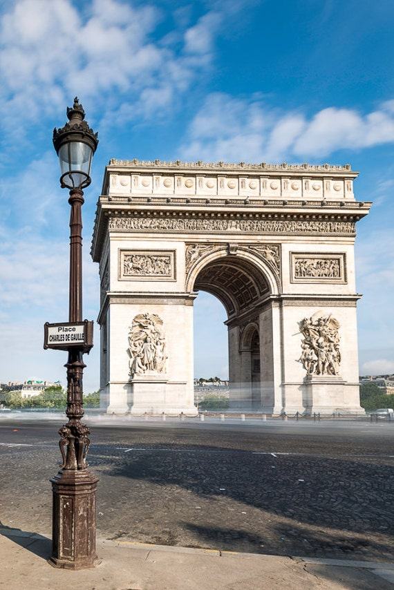 Arc de triomphe paris street photography digital wall art for Arc de triomphe wall mural