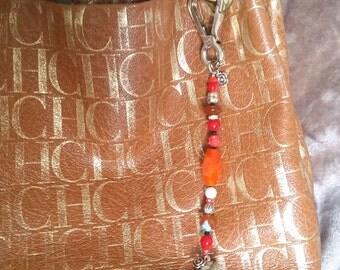 Amber handbag tassel
