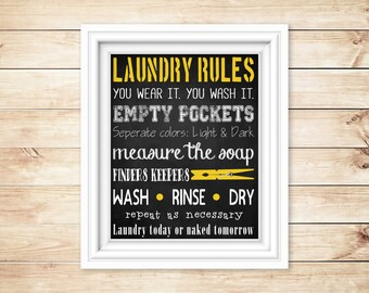 Laundry Rules Printable ** For Moms of Boys