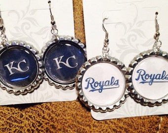 Kansas City Royals earrings!!