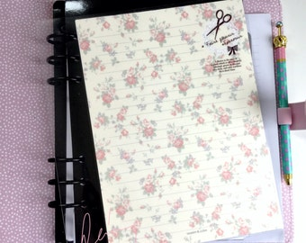 Double Sided Laminated Note List Dashboard /Divider : Vintage Floral Patterns - Planner Accessories Re-Usable Page Marker Bookmark Insert