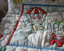 vintage quilted panel