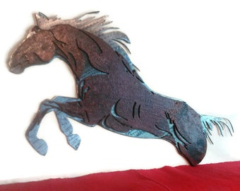 Metal Horse Gift | Equestrian Gifts |Equestrian Decor Wall Art |Metal Wall Art |Metal Horse Art | Horse Barn Decor | Western |Horse Wall Art
