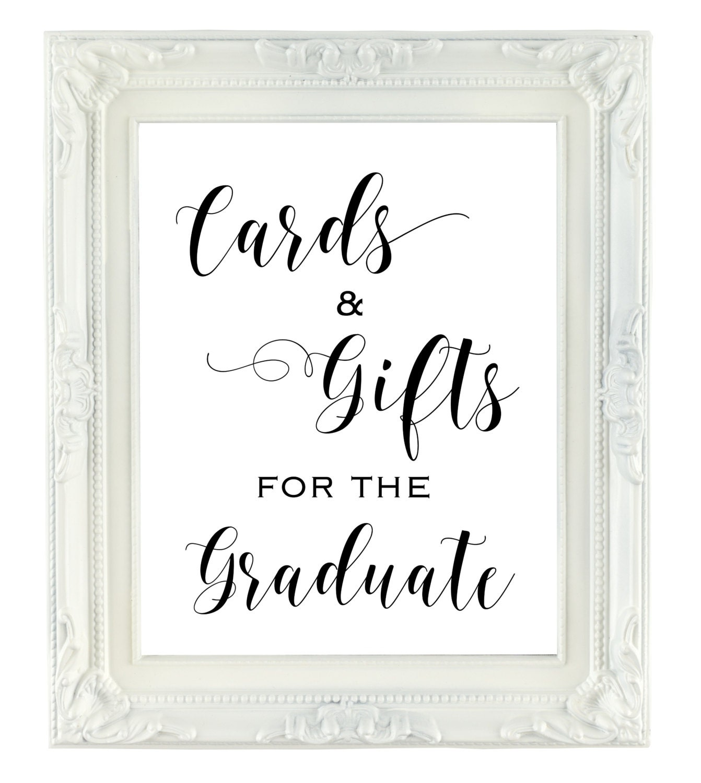 graduation party cards  u0026 gifts sign graduation party decor