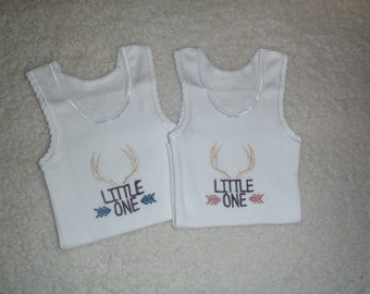 Embroidered baby singlet - newborn to size 1