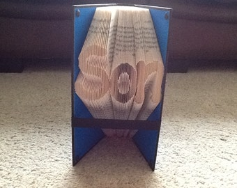 Son folded book art
