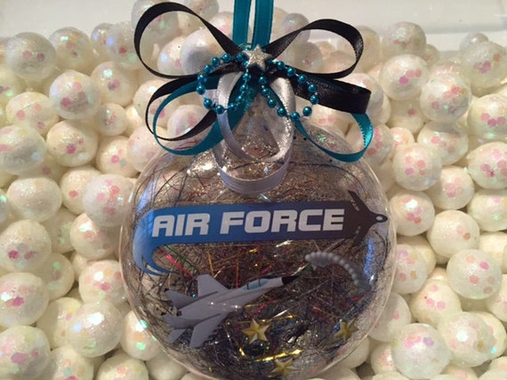 Air force ornament air force gift military by crystalsmarvels for Air force decoration examples