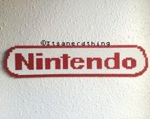 Large Nintendo Logo made from Hama / Perler beads