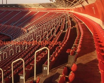 Candlestick Park Red Chairs Photograph