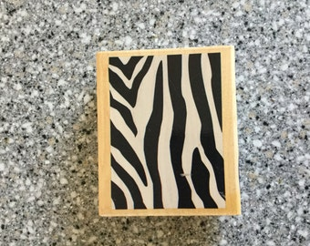 NEW Large Zebra Animal Print Stamp