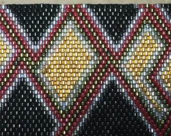 Peyote pattern - Golden Geometric