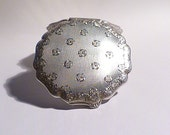Antique silver compact mirrors Czechoslovakian solid silver compact silver compacts silver christening gifts