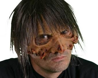 Deluxe Zombie Half Mask/ Deluxe Zombie Mask/ Realistic Zombie Mask/ Zombie Mask/ Zombie Costume Idea/ Halloween Mask