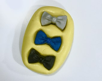 Set of 3 Bow Tie Silicone Molds - chocolate mold, fondant mold, food safe mold, resin or soap mold